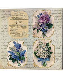 Vintage Flower Label By Andrea Haase Canvas Art