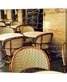 Paris Bistro Letter by Sue Schlabach Canvas Art