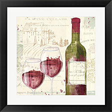 Chateau Winery III by Katie Pertiet Framed Art
