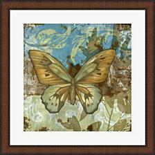 Rustic Butterfly I by Jennifer Goldberger Framed Art
