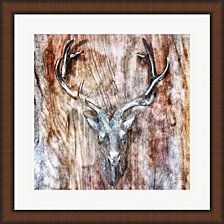 Silver Antler by Golie Miamee Framed Art