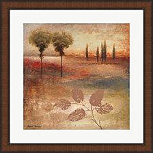 Warm Textural Landscape I by Michael Marcon Framed Art