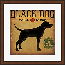 Black Dog at Show No VT by Ryan Fowler Framed Art