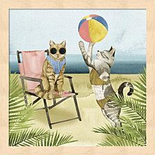 Coastal Kitties I By Grace Popp Framed Art
