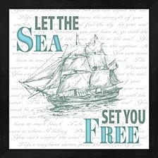 Sailor Away Sign 1 By Lightboxjournal Framed Art