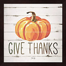Give Thanks Pumpkin By Marla Rae Framed Art