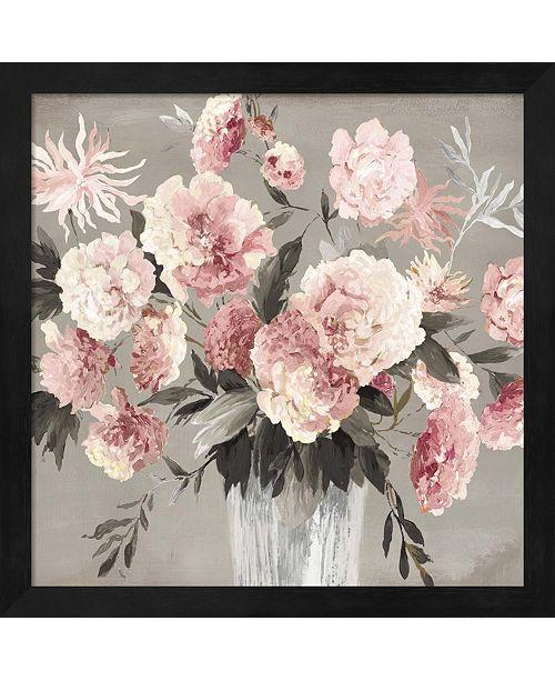Metaverse Peach Bouquet By Asia Jensen Framed Art