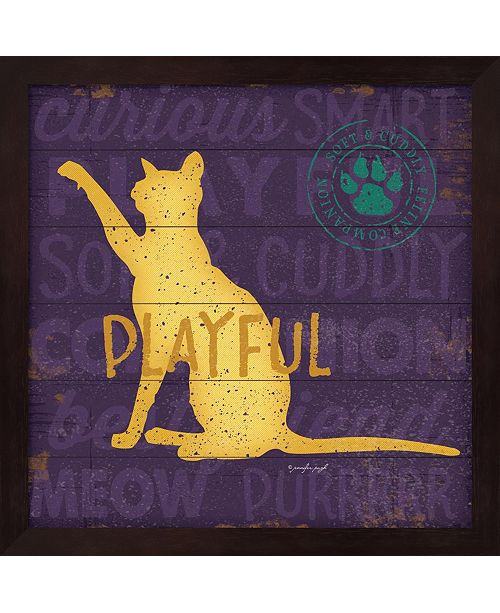 Metaverse Playful Cat By Jennifer Pugh Framed Art
