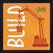 Crane Build By Jennifer Pugh Framed Art