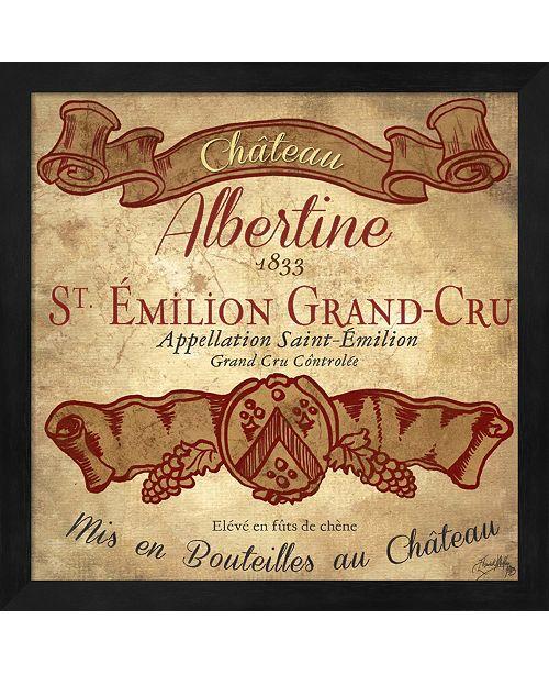 Metaverse Wine Label Iv By Elizabeth Medley Framed Art