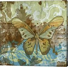 Rustic Butterfly II by Jennifer Goldberger Canvas Art