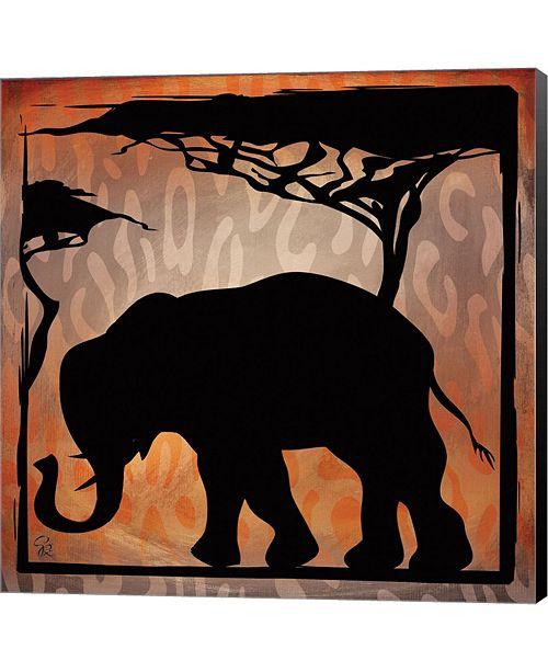 Metaverse Safari Silhouette IV By Gena Rivas-Velazquez Canvas Art