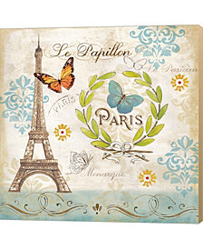 Le Papillon Paris I by Cynthia Coulter Canvas Art