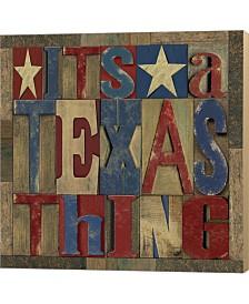 Texas Printer Bloc3 By Tara Reed Canvas Art