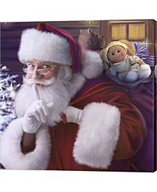 Shhh Santas Doll And By Dbk-Art Licensing Canvas Art