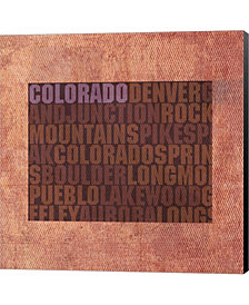 Colorado State Words By David Bowman Canvas Art