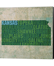 Kansas State Words By David Bowman Canvas Art