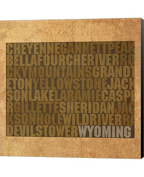 Metaverse Wyoming State Words By David Bowman Canvas Art