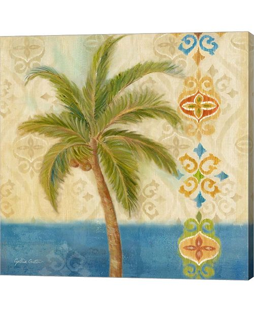 Metaverse Ikat Palm II By Cynthia Coulter Canvas Art