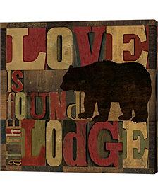 At The Lodge Printe2 By Tara Reed Canvas Art