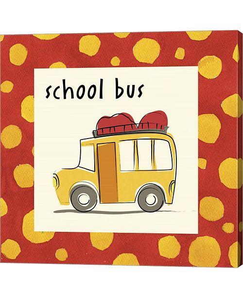 Metaverse School Bus With Bord By Esteban Studio Canvas Art