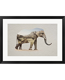 African Elephant Ero By Color Me Happy Framed Art