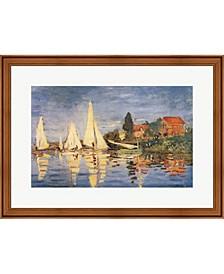 Regatta At Argenteui By Claude Monet Framed Art