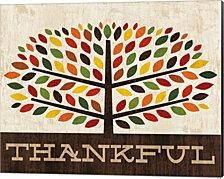 Family Tree - Thankful by Michael Mullan Canvas Art