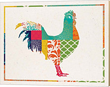 Boho Rooster by Tammy Apple Canvas Art