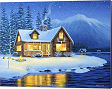 Starlight Cabin By Heather Burns Canvas Art