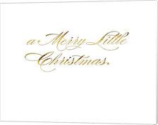 Park Avenue a Merry Little Christmas inside card copy by Tina Lavoie Canvas Art