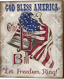 Retro Patriotic-A By Jean Plout Canvas Art