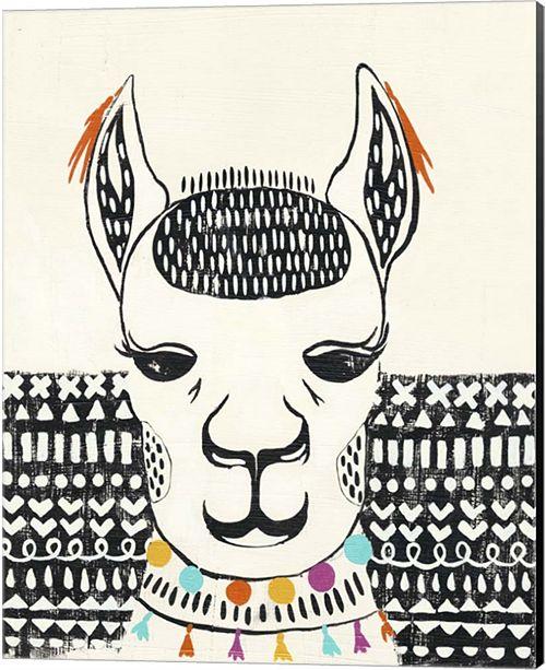 Metaverse Party Llama Iv By Chariklia Zarris Canvas Art