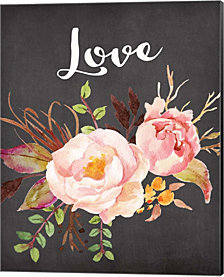 Watercolor Flowers Love by Tara Moss Canvas Art