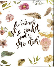 She Believed By Natasha Wescoat Canvas Art