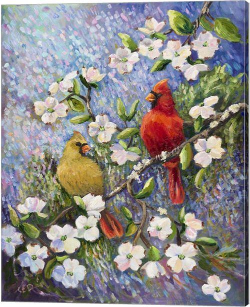 Metaverse Cardinal Impressions By Sarah Davis Canvas Art