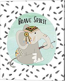 Brave Elephant by Jo Moulton Canvas Art