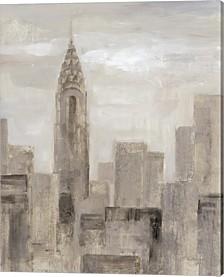 City Blocks I Greige By Silvia Vassileva Canvas Art