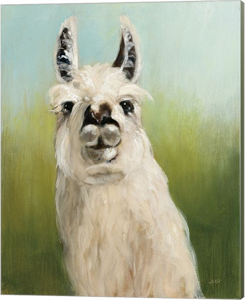 Metaverse Whos Your Llama I By Julia Purinton Canvas Art