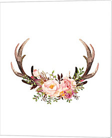 Floral Antlers by Tara Moss Canvas Art