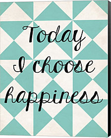 Today I Chose Happiness 1 by Louise Carey Canvas Art