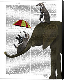 Elephant and Penguin by Fab Funky Canvas Art