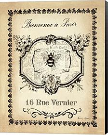 Paris Bees I by Emily Adams Canvas Art