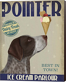 German Shorthaired Pointer Ice Cream by Fab Funky Canvas Art