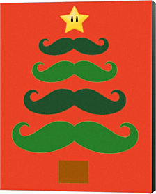 Mustache Tree by Marcus Jules Canvas Art