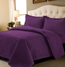 Brisbane Microfiber Solid Oversize Quilt Set Collection
