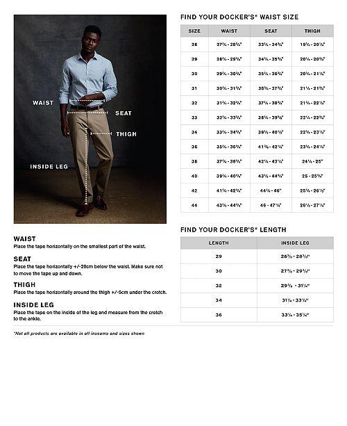 4a24ea5f9232 Dockers Men s Signature Lux Cotton Classic Fit Stretch Khaki Pants ...