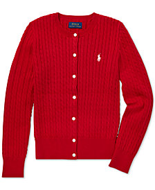 Polo Ralph Lauren Big Girls Cable-Knit Cardigan