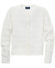 Polo Ralph Lauren Big Girls Pointelle Cardigan