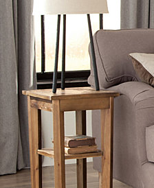 Revive - Reclaimed 2 Shelf End Table, Natural